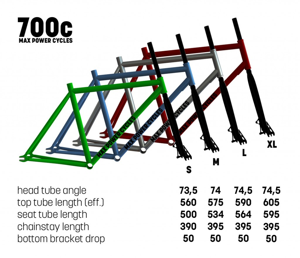 max power 700c frame